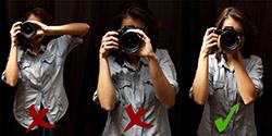 چگونه یک دوربین DSLR را در دست بگیریم؟