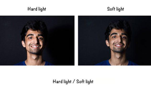 نور نرمsoft light  و نور سخت hard light چگونه بوجود مي آيند؟